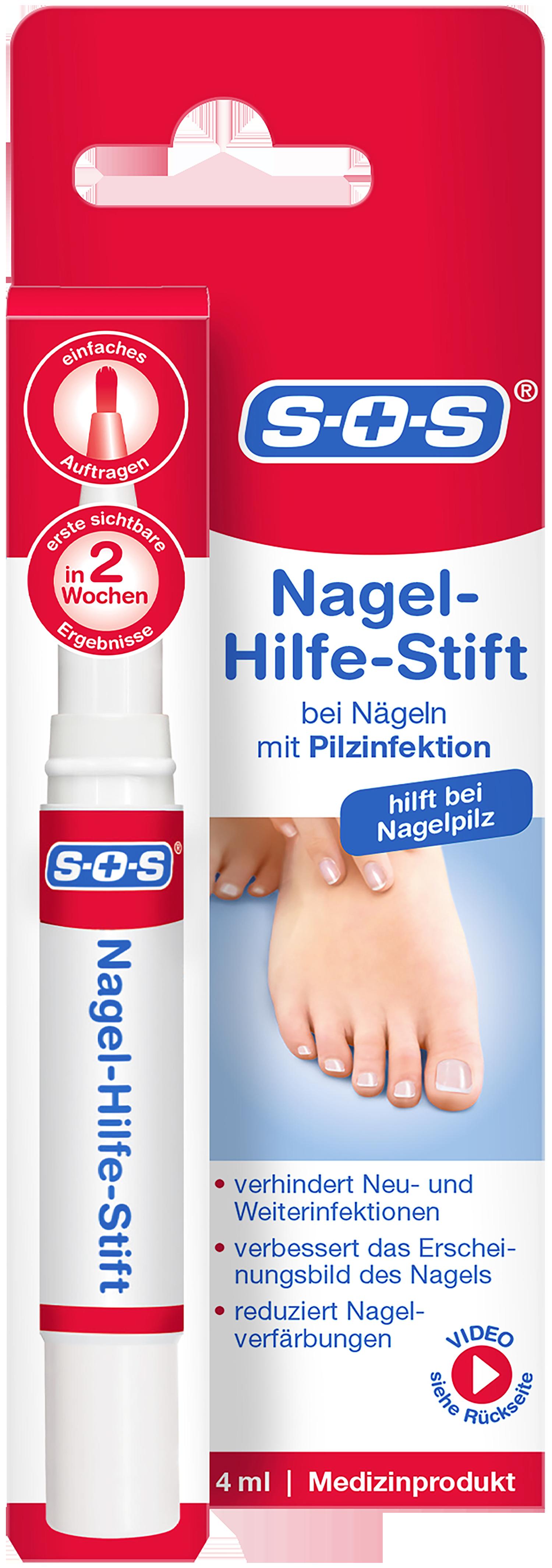 Für rundum gesunde Füße: SOS Warzen-Ex und SOS Nagelhilfe-Stifte ...